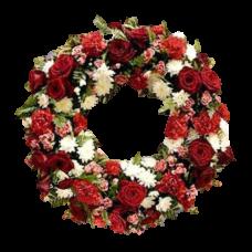 Венок европейский из живых цветов ВЕЖ-28