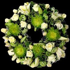 Венок европейский из живых цветов ВЕЖ-11