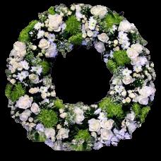 Венок европейский из живых цветов ВЕЖ-14