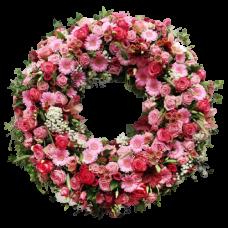 Венок европейский из живых цветов ВЕЖ-30