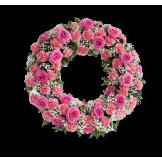 Венок европейский из живых цветов ВЕЖ-40