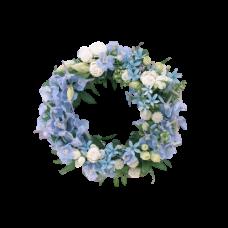 Венок европейский из живых цветов ВЕЖ-41