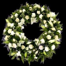 Венок европейский из живых цветов ВЕЖ-13