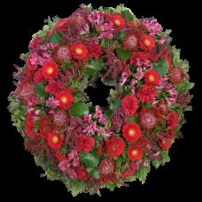 Венок европейский из живых цветов ВЕЖ-19