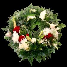 Венок европейский из живых цветов ВЕЖ-18