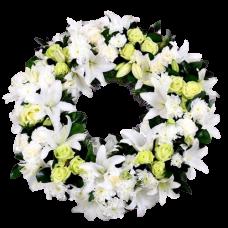 Венок европейский из живых цветов ВЕЖ-15
