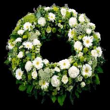 Венок европейский из живых цветов ВЕЖ-12
