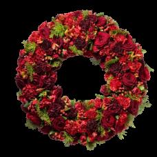 Венок европейский из живых цветов ВЕЖ-31