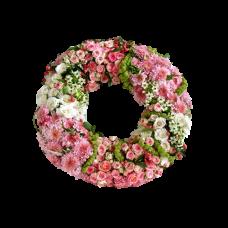 Венок европейский из живых цветов ВЕЖ-32