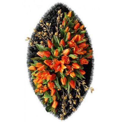 Венок из искусственных цветов BЗ-37