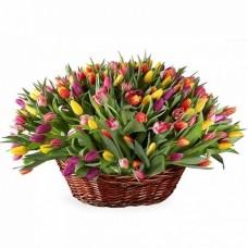Корзина из живых цветов КЖ-68