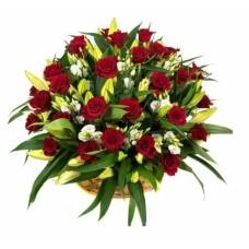 Корзина из живых цветов КЖ-69