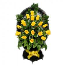 Корзина из искусственных цветов заказная КЗ-58