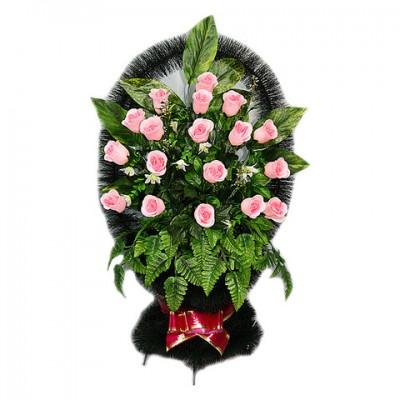 Заказать корзину из искусственных цветов на похороны