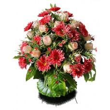 Корзина  элитная из искусственных цветов КЭИ-30