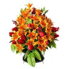Корзина  элитная из искусственных цветов КЭИ-31
