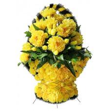 Корзина  элитная из искусственных цветов КЭИ-32