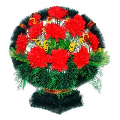 Корзина из искусственных цветов КЗ-42