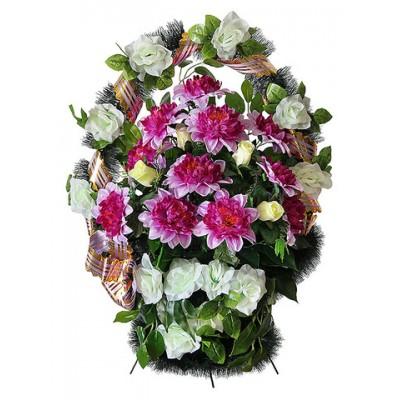 Корзина  элитная из искусственных цветов КЭИ-33