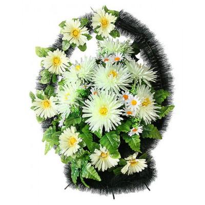 Корзина  элитная из искусственных цветов КЭИ-34