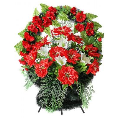 Корзина  элитная из искусственных цветов КЭИ-35
