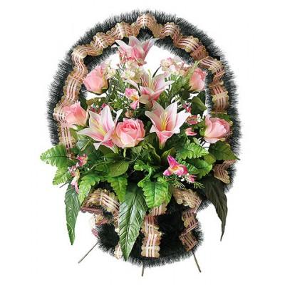 Корзина  элитная из искусственных цветов КЭИ-37