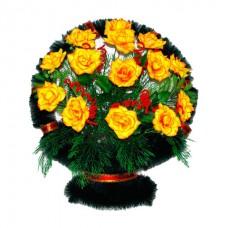 Корзина из искусственных цветов КЗ-45