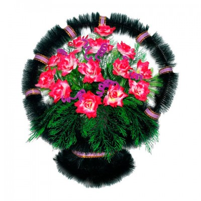 Корзина из искусственных цветов КЗ-47