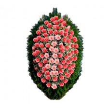 Ритуальный Венок из живых цветов ВЖ-76