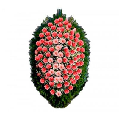 Венок из живых цветов ВЖ-76