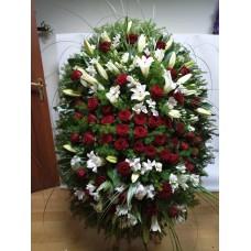 Ритуальный Венок из живых цветов ВЖ-22