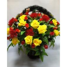 Корзина из искусственных цветов КЗ-19