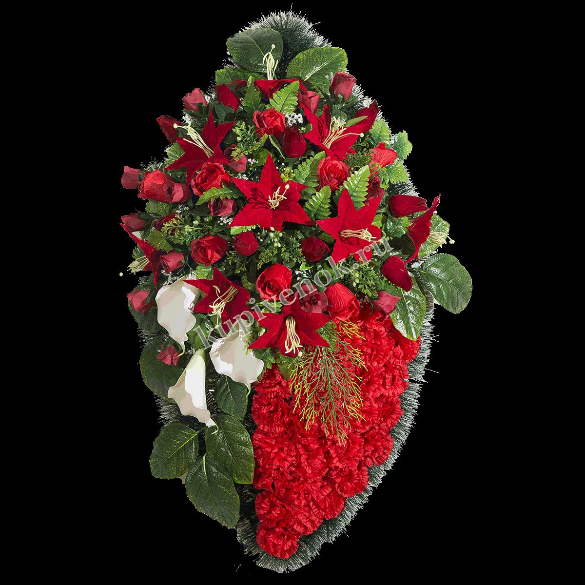 Венки из живых цветов ВЖ-84