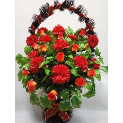 Корзина из искусственных цветов КО-015