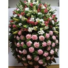 Ритуальный Венок из живых цветов ВЖ-13