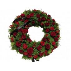 Венок европейский из живых цветов ВЕЖ-39