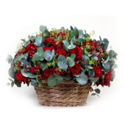 Корзина из живых цветов КЖ-70