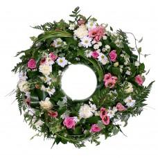 Венок европейский из живых цветов ВЕЖ-42