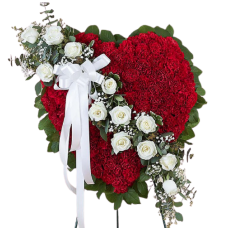 Венок из искусственных цветов в виде сердца ВСИ-05