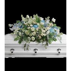 Кремационная композиция из живых цветов КР-006
