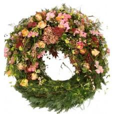 Венок европейский из живых цветов ВЕЖ-44