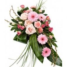 Кремационная композиция из живых цветов КР-016