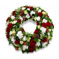 Венок европейский из живых цветов ВЕЖ-46