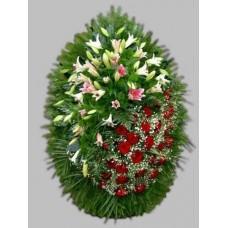 Ритуальный Венок из живых цветов ВЖ-42