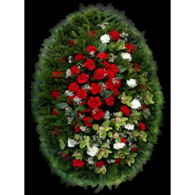Венок из живых цветов ВЖ-10