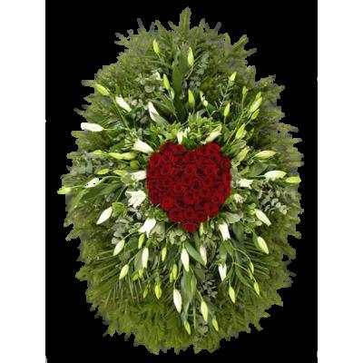 Венок из живых цветов ВЖ-11