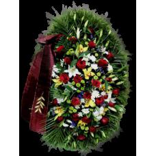 Венок из живых цветов ВЖ-09