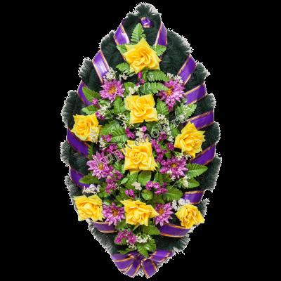 Венок из искусственных цветов с доставкой в Москве