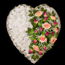 Венок из искусственных цветов в виде сердца ВСИ-02