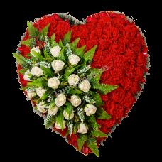 Венок из искусственных цветов в виде сердца ВСИ-03